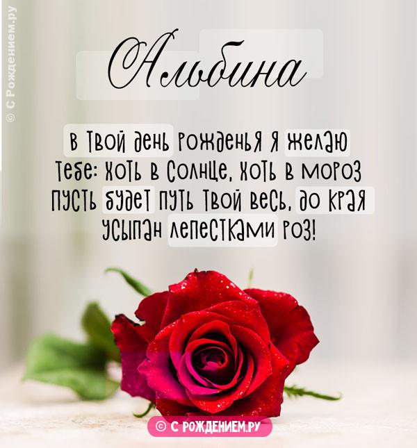 Открытки с Днём Рождения с именем Альбина